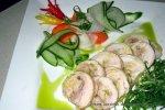 Wine Steeped Chicken Rolls