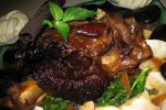 Braised Pork Shank With King Topshell
