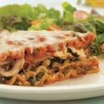 Sausage, Mushroom & Spinach Lasagna