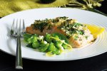Caper & herb crusted salmon