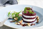 Beetroot and goat's cheese stacks