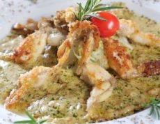 Frog's Legs With Mushrooms And Green Peppers Recipe