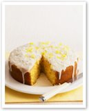 Lemon coconut custard cake