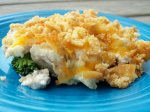 Layered Chicken Broccoli Casserole (No Canned Soup)