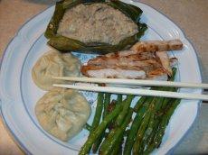 Bergy Dim Sum #9, SteamedRice Bundles with Chicken and mushrooms