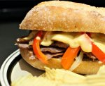 Open Face Ny Strip Philly Cheese Steaks