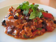 Turkey, Beef and Black Bean Chili