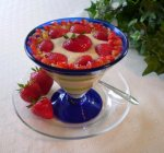 Tofu Strawberry Dessert