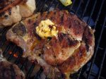 Grilled Steaks (Or Chops) With Chipotle Butter