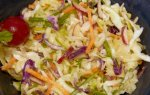 Asian Coleslaw With Miso-Ginger Dressing