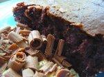 Glazed Chocolate-Sour Cream Cake