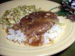 Veal or Turkey Burgers W/Onion Gravy (Low Fat!)