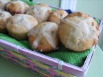 Easter Hot Cross Muffins