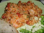 Shrimp and Orzo With Cherry Tomatoes and Parmesan Cheese