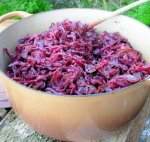 Crock Pot Baked Spiced Red Cabbage With Apples or Pears