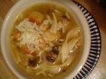 Ritzy's Mushroom Chicken Noodle Soup
