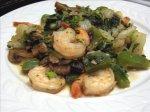 Shrimp Stir-Fry With Bok Choy, Mushrooms & Peppers