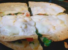 Spinach-Tomato Quesadillas With 3 Cheeses
