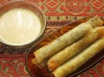 Wild Mushroom Spring Rolls With Chinese Mustard Dipping Sauce