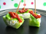 Boursin, Tomato and Cucumber Nibbles