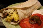 Egg & Sausage Breakfast Burrito