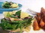 Spinach Salad in Parmesan Frico Cups (Giada De Laurentiis)