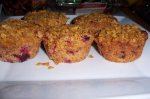 Double Cranberry Crunch Muffins