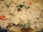 Fusilli With Creamy Gorgonzola Sauce