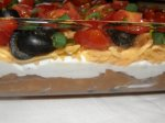 Super Fast Low Fat Layered Dip