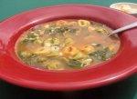 Spinach-Tomato Tortellini Soup