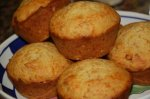 Pepperoni & Cheddar Corn Muffins in a