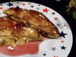 Peanut Butter-Chocolate Stuffed French Toast With Jam Syrup