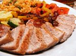 Spice-Rubbed Pork With Bell Pepper Compote