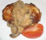 Pork Chops With Mushrooms and a Mild Horseradish Sauce