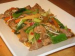 Char Siu Pork Corn and Bok Choy Stir Fry