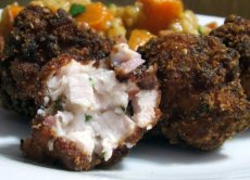 Deep-Fried Bacon, Chicken and Cheese Balls