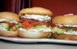 Mini Club Sandwiches With Salmon Carpaccio and Maple