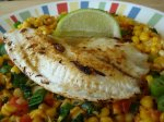 Cumin Fish & Roasted Corn Salsa (21 Day Wonder Diet: Day 10)