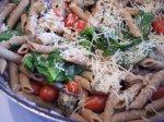 Chicken Parmesan Penne Pasta Toss