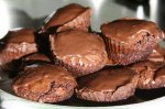 Warm Double-Chocolate Brownie Cakes