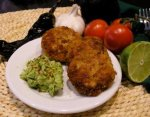 Chipotle Fish Cakes With Guacamole Salsa