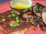 Breaded Pork Scallopine With Mushroom Sauce