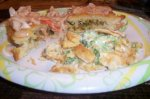 Leek Stuffed Crescents Topped With Lobster Butter Cream Sauce