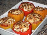 Stuffed Peppers With Tofu and Seasoned Wild Rice (Dairy Free)