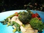 Bea's Shrimp and Green Veggie Stir Fry With Mushrooms