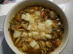 Tomato, Italian Sausage, and Veggie Soup