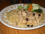 Cubed Chicken With Coffee Sauce
