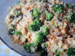 Curried Couscous With Broccoli and Feta (And Cashews!)