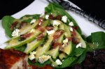 Spinach Pear Salad W/Bacon and Honey Dijon Dressing