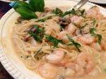 DF Basil Cream Shrimp Pasta